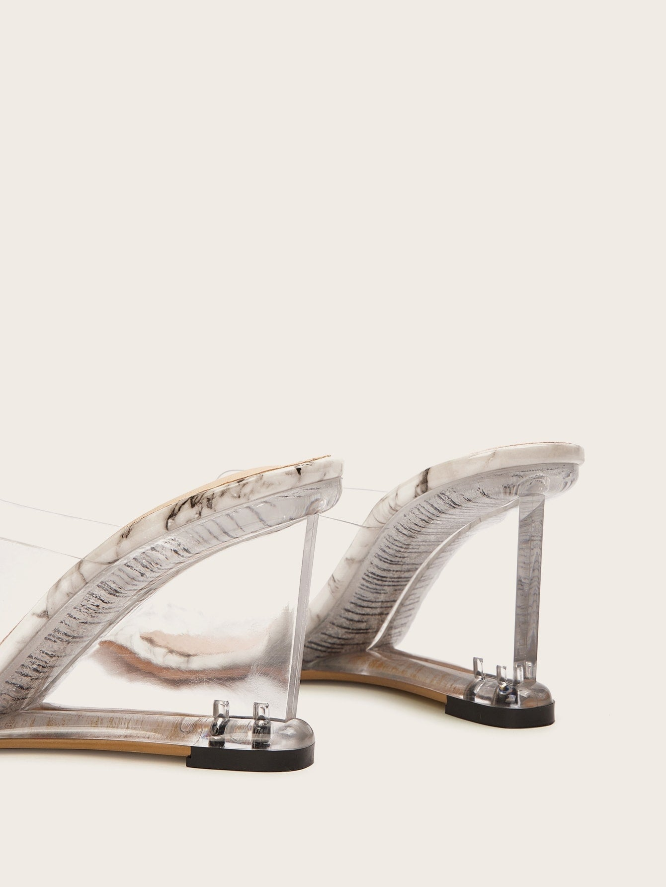 Open Toe Clear Heeled Wedges-PVC-Trendy-JayBoutique-EUR35-Trendy-JayBoutique