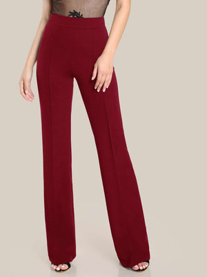 Wide Waistband Straight Leg Pants-Trendy-JayBoutique-Burgundy-XS-Trendy-JayBoutique
