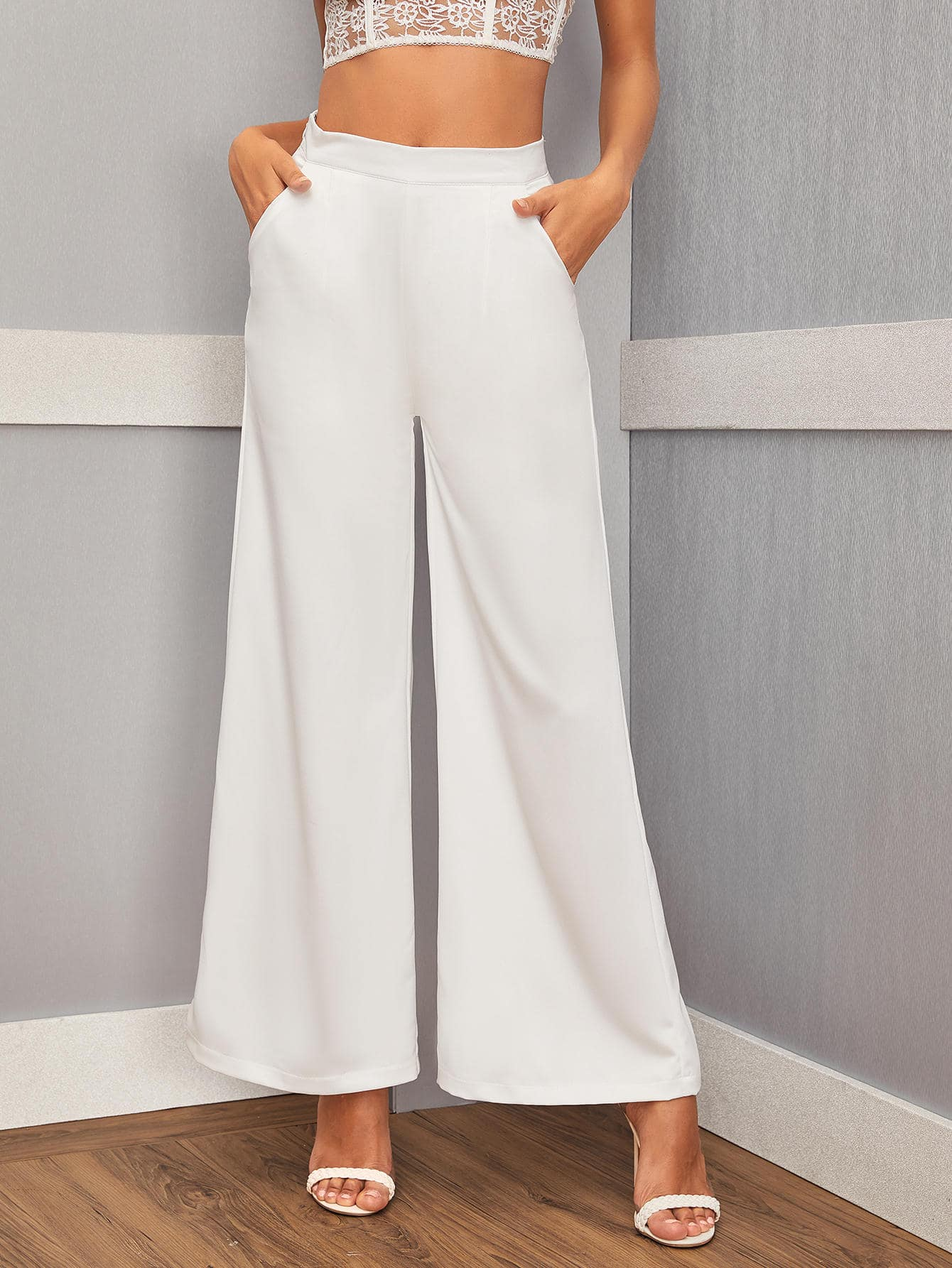 Solid Zip Side Wide Leg Trousers-Trendy-JayBoutique-XS-Trendy-JayBoutique