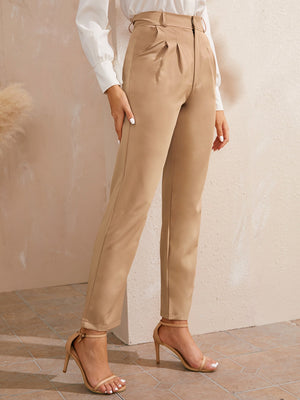 Solid Straight Leg Zipper Fly Trousers-Trendy-JayBoutique-S-Trendy-JayBoutique
