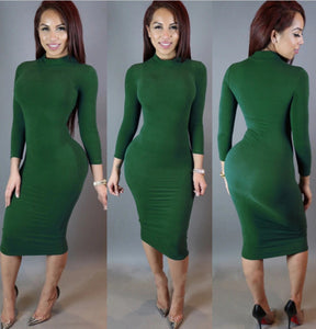 Maxi Bandage Bodycon Dress-Dresses-Trendy-JayBoutique-Green-S-Trendy-JayBoutique