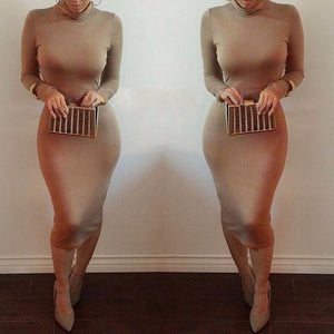 Maxi Bandage Bodycon Dress-Dresses-Trendy-JayBoutique-coffee-S-Trendy-JayBoutique