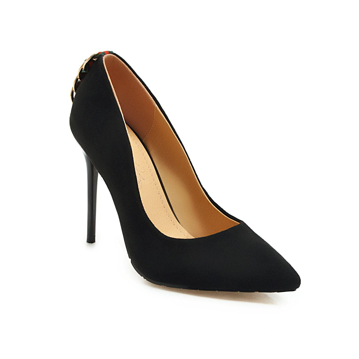New Fashion Suede Back-Ring Women Pumps-shoes-Trendy-JayBoutique-#2-US=3.0 EU=31-Trendy-JayBoutique