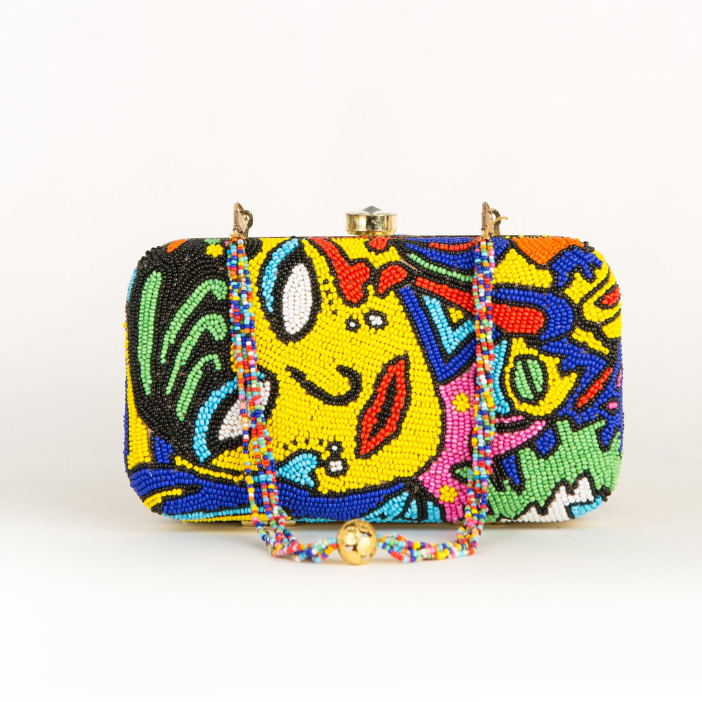Nuz Portrait Party Clutch-Women - Bags - Clutches & Evening-Sata Fashion-Orange-Trendy-JayBoutique