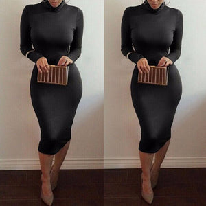 Maxi Bandage Bodycon Dress-Dresses-Trendy-JayBoutique-Black-S-Trendy-JayBoutique