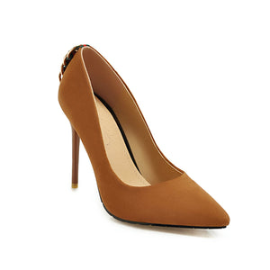 New Fashion Suede Back-Ring Women Pumps-shoes-Trendy-JayBoutique-#3-US=3.0 EU=31-Trendy-JayBoutique