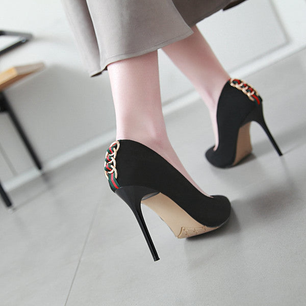 New Fashion Suede Back-Ring Women Pumps-shoes-Trendy-JayBoutique-#4-US=3.0 EU=31-Trendy-JayBoutique