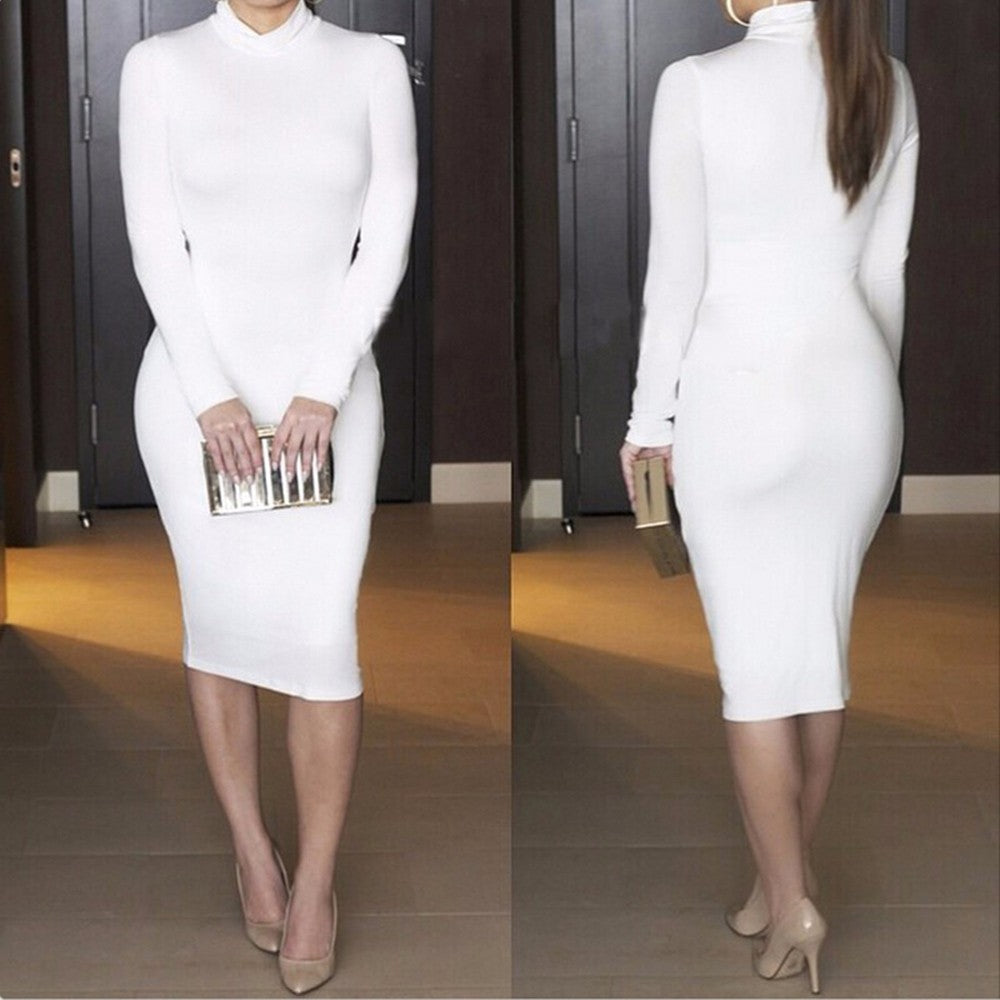 Maxi Bandage Bodycon Dress-Dresses-Trendy-JayBoutique-White-S-Trendy-JayBoutique