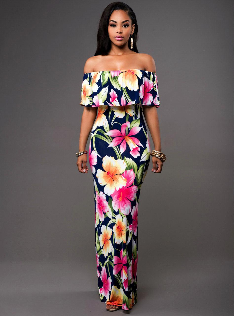 Maxi Floral Printed Dress-Dresses-Trendy-JayBoutique-Same Picture 1-S-Trendy-JayBoutique