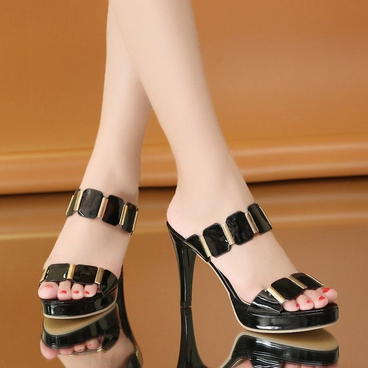 Elegant Peep-Toe Ladies Shoes-shoes-polostore fashion-UK: 2.5-Black-Trendy-JayBoutique