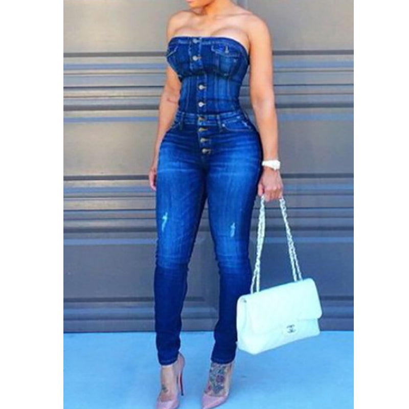 Trendy Strapless Blue Denim Jumpsuit-jumpsuit-Trendy-JayBoutique-M-Blue-Trendy-JayBoutique