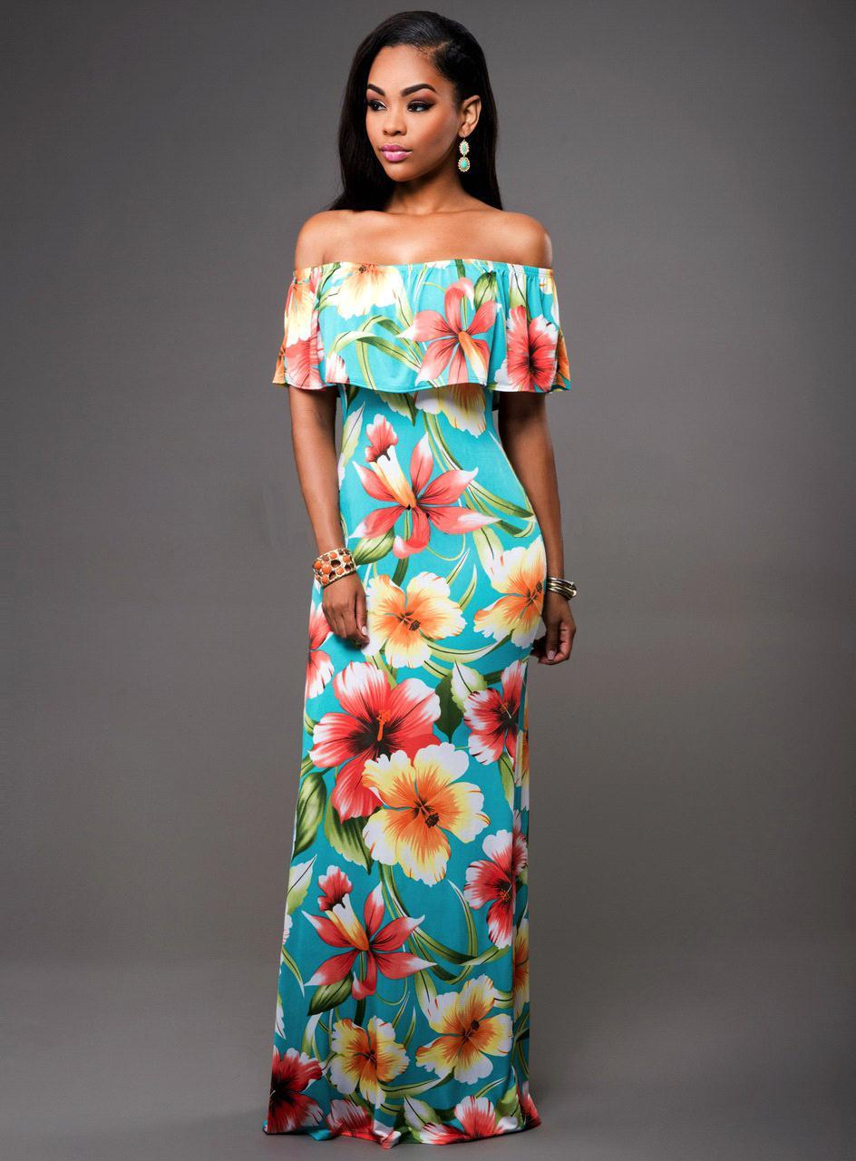 Maxi Floral Printed Dress-Dresses-Trendy-JayBoutique-Same Picture 2-S-Trendy-JayBoutique