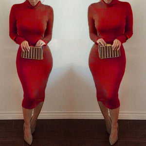 Maxi Bandage Bodycon Dress-Dresses-Trendy-JayBoutique-Red-S-Trendy-JayBoutique