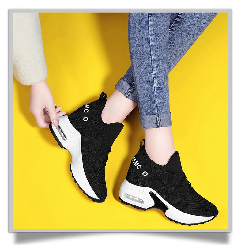 Ladies Casual Platform White & Black Sneakers-sneakers-Trendy-JayBoutique-Black-4-Trendy-JayBoutique