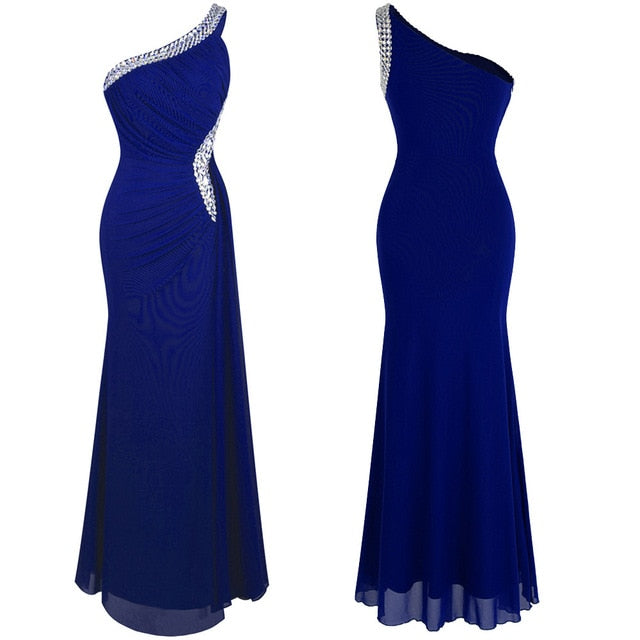 Angel Draped Evening Dress-bridesmaid dress-Trendy-JayBoutique-royal blue 411-14-China-Trendy-JayBoutique