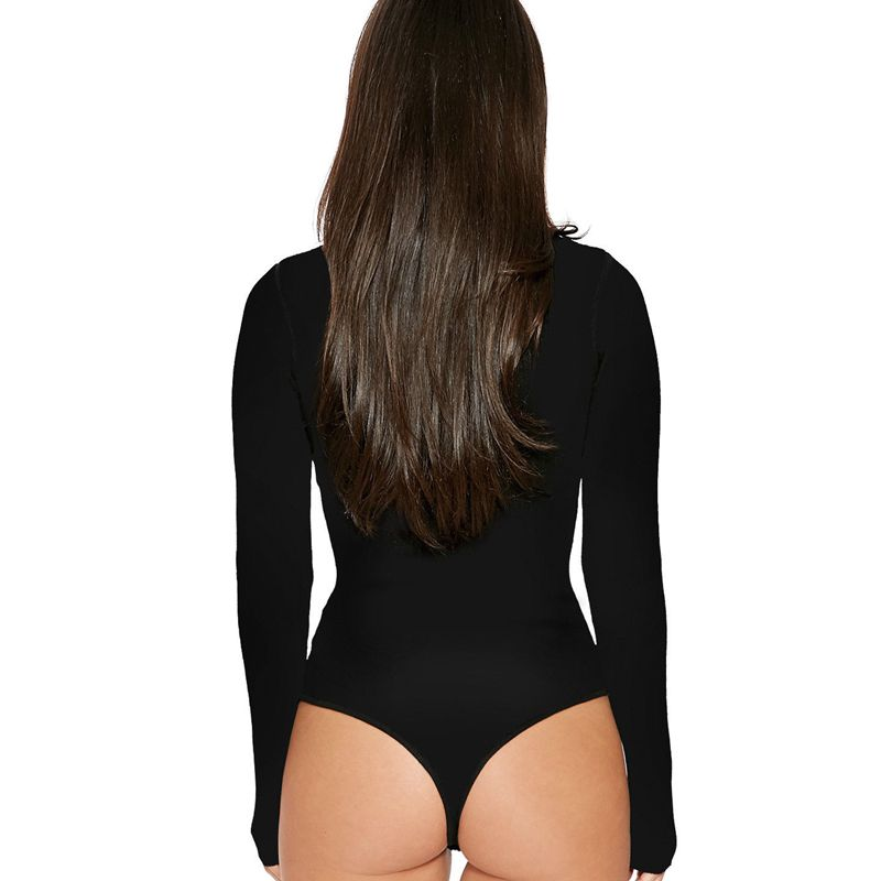 Ladies Turtle Neck Bodysuit-bodysuit-Trendy-JayBoutique-Black-S-Trendy-JayBoutique