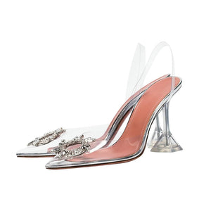PVC Transparent Crystal Pointed Heel Shoes-shoes-Trendy-JayBoutique-Heel height 2cm-10-Trendy-JayBoutique