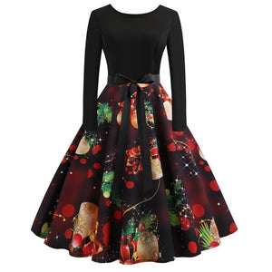'Rockabilly' Elegant Party Swing Christmas Dress-Dress-Trendy-JayBoutique-002-XXL-Trendy-JayBoutique