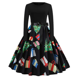 'Rockabilly' Elegant Party Swing Christmas Dress-Dress-Trendy-JayBoutique-004-XXL-Trendy-JayBoutique