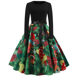'Rockabilly' Elegant Party Swing Christmas Dress-Dress-Trendy-JayBoutique-005-S-Trendy-JayBoutique