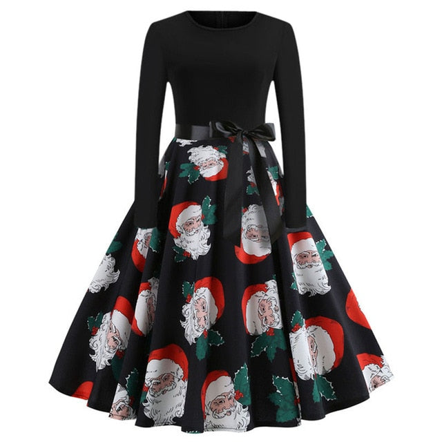 'Rockabilly' Elegant Party Swing Christmas Dress-Dress-Trendy-JayBoutique-006-XL-Trendy-JayBoutique