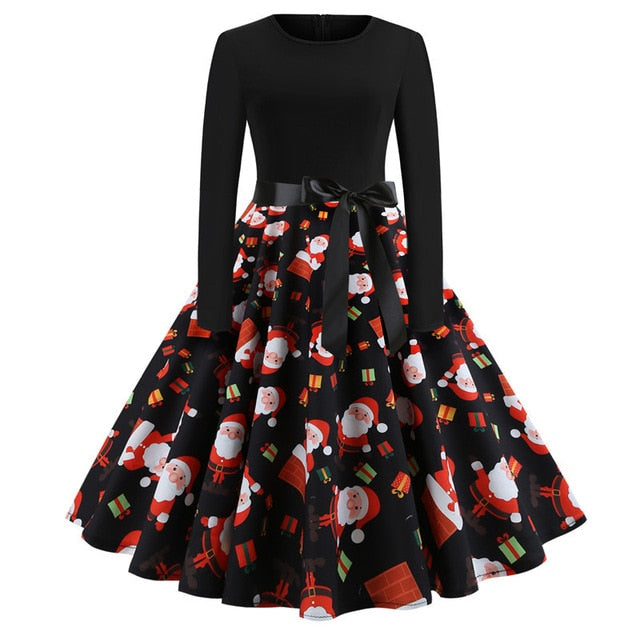 'Rockabilly' Elegant Party Swing Christmas Dress-Dress-Trendy-JayBoutique-011-L-Trendy-JayBoutique