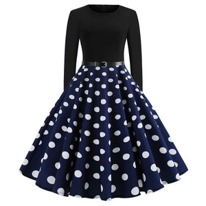 'Rockabilly' Elegant Party Swing Christmas Dress-Dress-Trendy-JayBoutique-014-XL-Trendy-JayBoutique