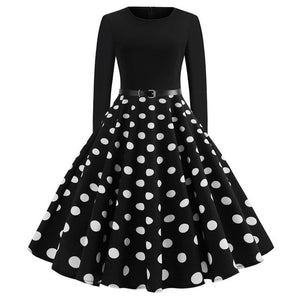 'Rockabilly' Elegant Party Swing Christmas Dress-Dress-Trendy-JayBoutique-015-XXL-Trendy-JayBoutique