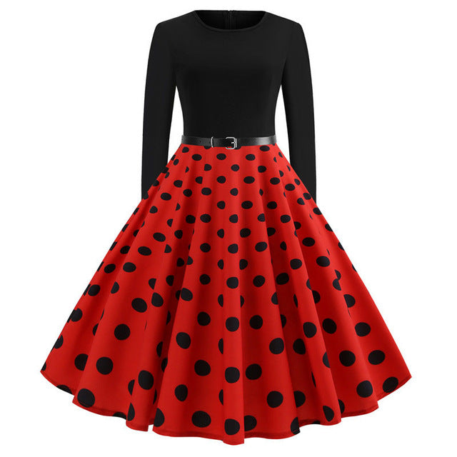 'Rockabilly' Elegant Party Swing Christmas Dress-Dress-Trendy-JayBoutique-016-M-Trendy-JayBoutique
