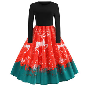 'Rockabilly' Elegant Party Swing Christmas Dress-Dress-Trendy-JayBoutique-025-XXL-Trendy-JayBoutique