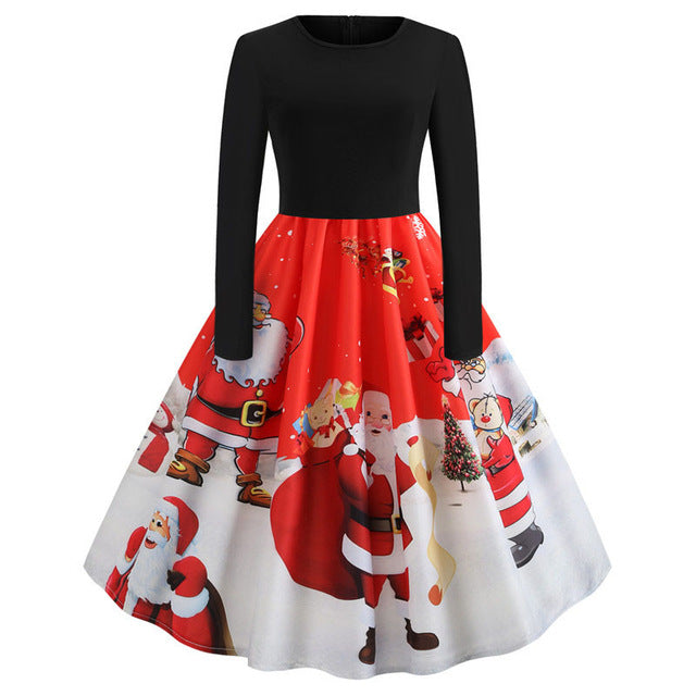 'Rockabilly' Elegant Party Swing Christmas Dress-Dress-Trendy-JayBoutique-024-XXL-Trendy-JayBoutique