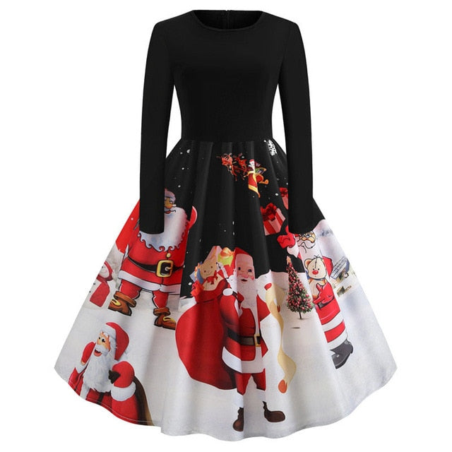 'Rockabilly' Elegant Party Swing Christmas Dress-Dress-Trendy-JayBoutique-026-XXL-Trendy-JayBoutique