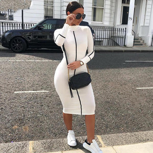 Black & White High Street Elegant Bodycon Dress-Dress-Trendy-JayBoutique-Black-L-Trendy-JayBoutique