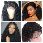 Brazilian Kinky Curly Human Hair Wig-wigs-Trendy-JayBoutique-Natural Color-10inches-150%-Trendy-JayBoutique