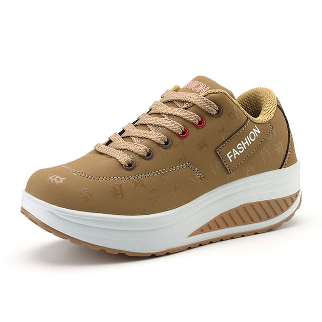 Leather Breathable Women's Sneakers-platform shoe-Trendy-JayBoutique-Khaki-8-Trendy-JayBoutique