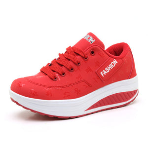 Leather Breathable Women's Sneakers-platform shoe-Trendy-JayBoutique-Red-8-Trendy-JayBoutique