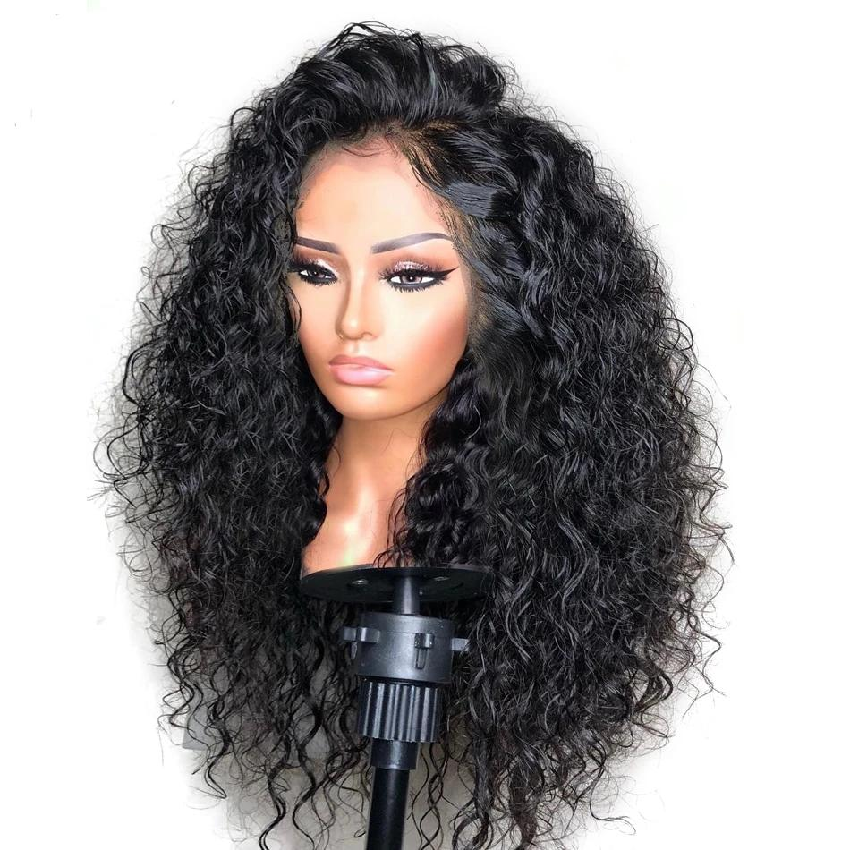 Curly Lace Front Brazilian Hair Wig-human hair wig-Trendy-JayBoutique-Natural Color-20inches-13x6 150 Density-Trendy-JayBoutique