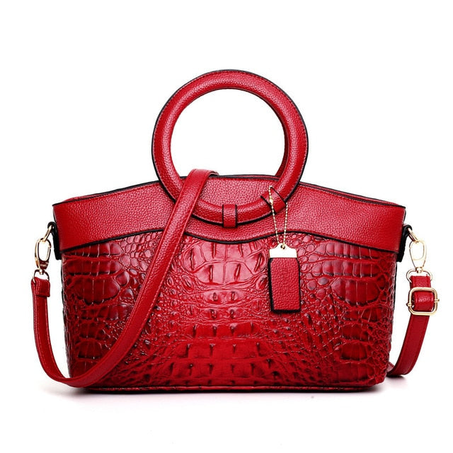 Leather Luxury Tote Handbags-handbag-Trendy-JayBoutique-Red-Russian Federation-About 31cm 13cm 21cm-Trendy-JayBoutique