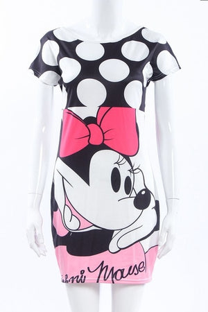 Cartoon Xter Printed Mini-Dress-Trendy-JayBoutique-13-XL-Trendy-JayBoutique