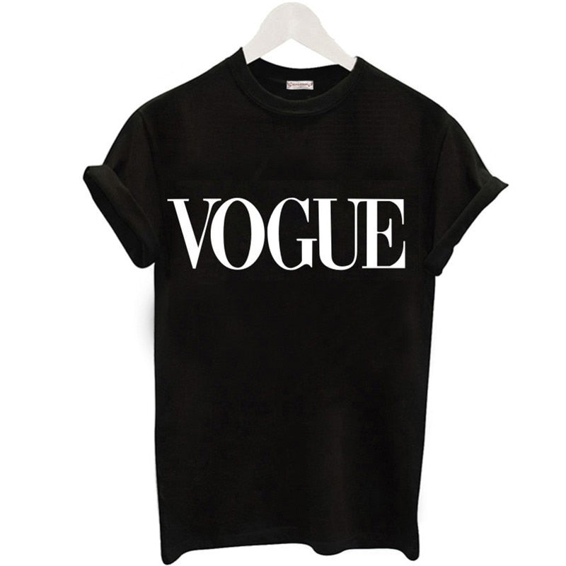 Fashion 'VOGUE' Printed T-shirt-Tank Top-Trendy-JayBoutique-Women T Shirt 1-S-Trendy-JayBoutique
