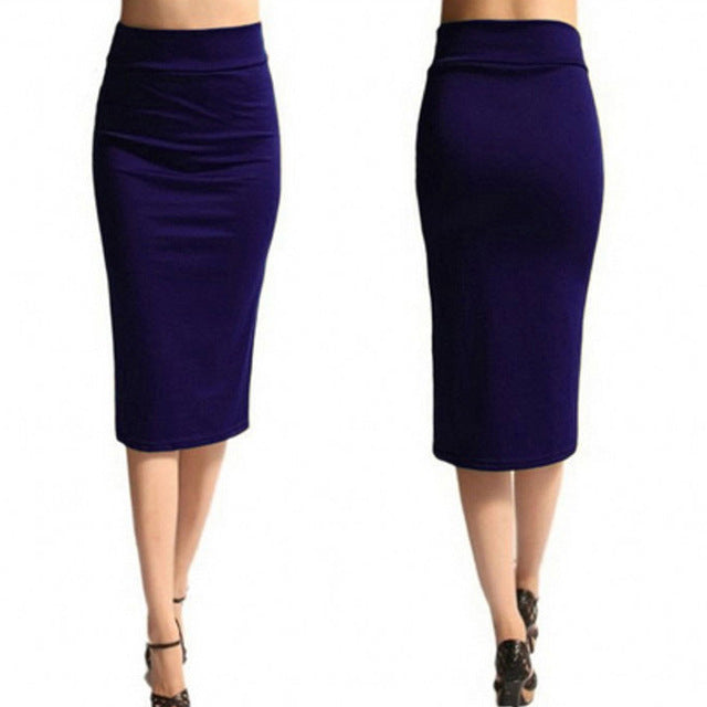 Super Stretchy Pencil Skirt-Skirt-Trendy-JayBoutique-purple-S-Trendy-JayBoutique