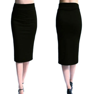 Super Stretchy Pencil Skirt-Skirt-Trendy-JayBoutique-black-S-Trendy-JayBoutique