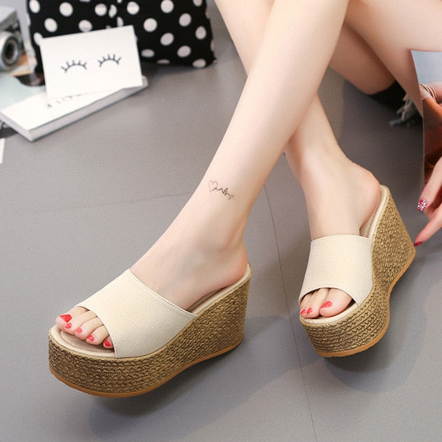Summer Platform Wedge Slippers-Wedge Slippers-Trendy-JayBoutique-Beige-6-Trendy-JayBoutique