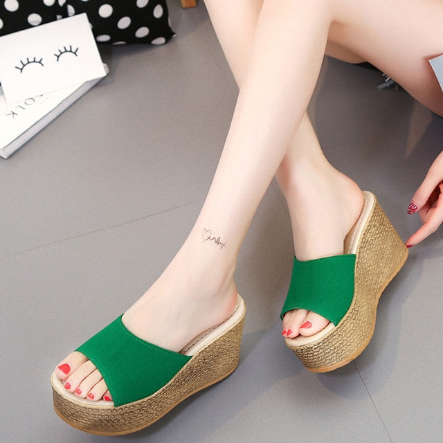 Summer Platform Wedge Slippers-Wedge Slippers-Trendy-JayBoutique-Green-6-Trendy-JayBoutique