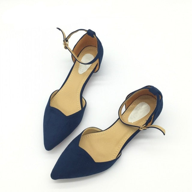 Buckle Strap Low Heel Pumps-shoes-Trendy-JayBoutique-Blue-4-Trendy-JayBoutique