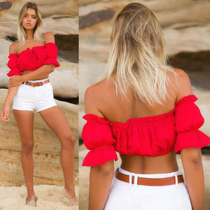 New-Boob tube Crop Top-Boob tube-Trendy-JayBoutique-Red-S-Trendy-JayBoutique