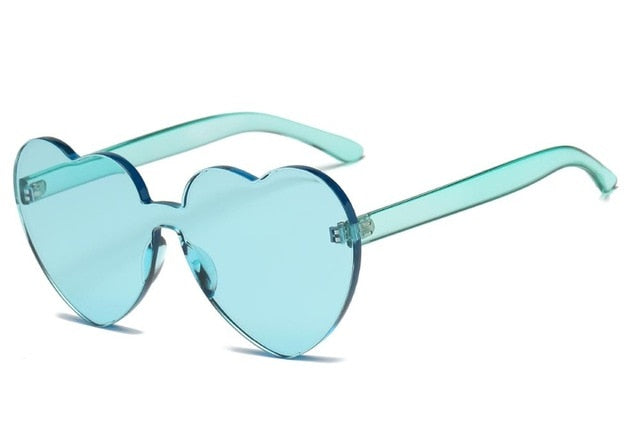 Heart Rimless Sunglasses-Sunglasses-Trendy-JayBoutique-Green-Trendy-JayBoutique