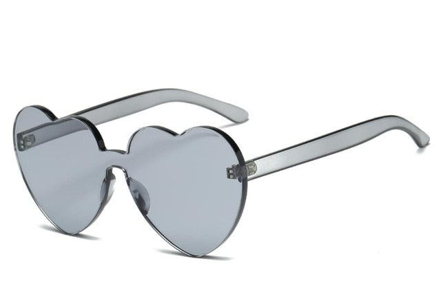 Heart Rimless Sunglasses-Sunglasses-Trendy-JayBoutique-Gray-Trendy-JayBoutique