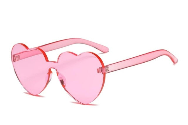 Heart Rimless Sunglasses-Sunglasses-Trendy-JayBoutique-Pink-Trendy-JayBoutique