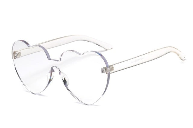 Heart Rimless Sunglasses-Sunglasses-Trendy-JayBoutique-Clear-Trendy-JayBoutique